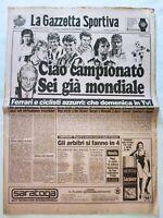 GAZZETTA DELLO SPORT 27-8-1989 INIZIO CAMPIONATO SERIE A 1989-1990 ITALIA 90