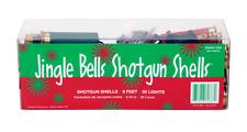 Shotgun Shell Christmas String Lights, 20 Holiday Red/Green Jingle Bell Lights