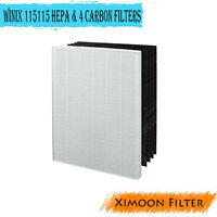 Filter for Winix 115115 + 4 Carbon Filters PlasmaWave Size 21 5300 5500 new