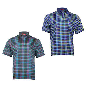 New Men's Cotton Oversized Short Sleeved Big & Tall Check Polo Shirt Tops