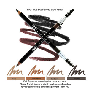 Avon True New Dual-Ended Brow Pencil with Brush ~ Great Gift ~ Free P&P