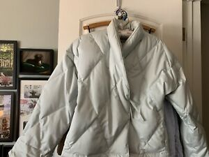 Scandia Down Bed Jacket Robe in Down Filled Cotton Sateen size Large Barely Worn