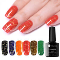 UR SUGAR Luminous Crackle UV Gel Polish Colorful Soak Off Nail Art Gel Varnish