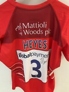 Leicester Tigers Joe Heyes Signed European Challenge Cup Match Shirt