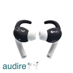 Audire Silicone Ear Wings Hooks for AirPods Pros - Black, 3 pairs