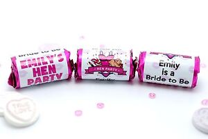 Personalised Hen Night Party Sweets Love Hearts Wedding Favours Keepsake #H1