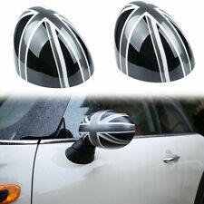 Black Grey UK Flag Rear View Manual Mirror Cover For MINI Cooper R55 R56 R57 R60