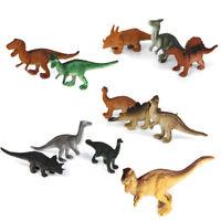 12pcs Mini Dinosaure Plastique Modèle Jouet de Collection Cadeau pour Enfant