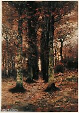 10FT BY 5FT László Paál OIL ON CANVAS  LANDSCAPE IN BROWNS CREATED IN 1870s
