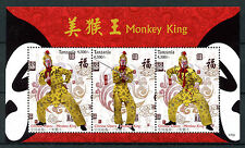 Tanzania 2017 MNH Monkey King Chinese Opera Mythology 3v M/S I Stamps