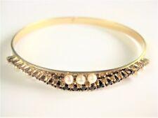 Armreif Gold 333 mit Granat und Perlen, 8,95 g