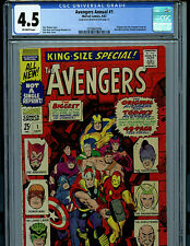 Avengers Annual #1 CGC 4.5 1967 Silver Age Marvel Comic Amricons K17