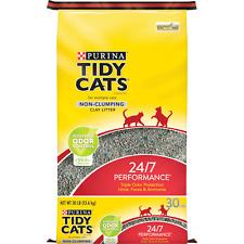 Cats Non Clumping Cat Litter, 24/7 Performance Multi Cat Litter, 30 lb. Bag New