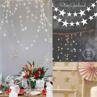 4M Star Paper Garland Bunting Banner Party Wedding Baby Shower Decor