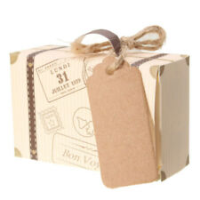 10pcs Wedding Favor Mini Suitcase Gift Box Kraft Candy Boxes Party Supply A33
