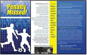 FOOTBALL GOSPEL TRACT LEAFLET Packed 100 Penalty Missed church outreach