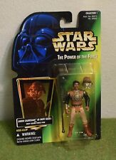 STAR WARS CARDED POWER OF THE FORCE GREEN CARD LANDO SKIFF GUARD