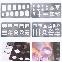 BORN PRETTY Stamping Plates Guide Nail Stencil Template Stainless Steel Tools