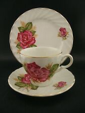 WOOD & SONS Vintage English Ironstone PRINCESS ROSE TRIO Tea Cup Saucer Plate