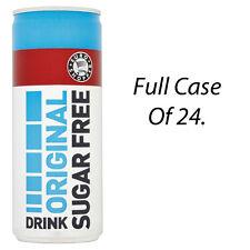 EURO SHOPPER ORIGINAL SUGAR FREE ENERGY DRINKS 250ml x 24 CANS WHOLESALE 225825