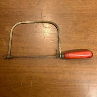 Vintage Coping Saw Red Wooden Handle