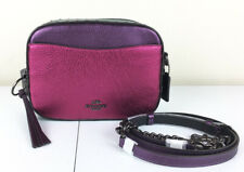 NWT Coach Camera Bag With Rivets V5/Metallic Dark Pink Multi 69410