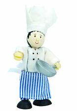 CHEF THE MASTER COOK BUDKIN by LE TOY VAN BUDKINS BK705 -WORKING WORLD RANGE