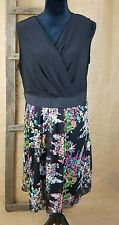 Lane Bryant women plus size 18 summer floral printed knee length dress lined NWT