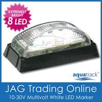 10V-30V 8-LED WHITE MARKER LAMP/CLEARANCE LIGHT - Boat/Trailer/Truck/Caravan BL