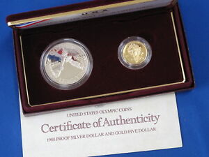 1988 Olympic Commemorative Gold & Silver Proof Set B4211
