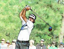 Golf Poster/Print/ Illustration/ Bubba Watson 2014 Masters Champion 17x22 inch