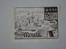 advertising Pubblicità 1942 TENDE DA CAMPO ETTORE MORETTI