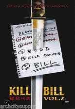 Poster : Movie Repro: Kill Bill - Vol 2 - Sword - Free Ship'N! #Pp30049 Rw9 B