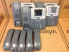 Lot of 5 CISCO IP PHONE SPA525G2 5 Line IP Phone w/ Handset