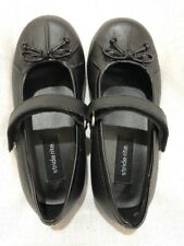 NWOB Stride Rite Black Leather Mary Jane Dress Shoes 8.5M Toddler Geneva Girls