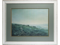 Ashley Jackson Framed Print 'Cold & Damp on Bradshaw Moor' Signed Yorkshire Art