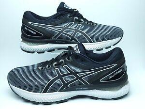 Asics Mens 10 Gel Nimbus 22 Black White Athletic Running Shoes 1011A680 EUC