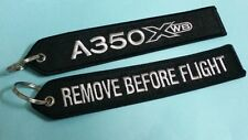 ONE Embroidery Keychain A 350 XWB Airbus Remove Before Flight Aviation Airline