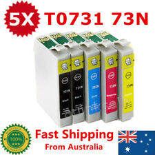 5x Ink Cartridge 73N T0731 0731 for Epson Stylus TX110 CX5500 NX220 TX410 TX610