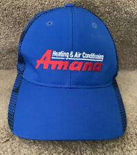 Amana Heating And Air Conditioning Strapback Blue Baseball Cap Hat