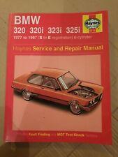 Haynes Manual BMW 3 Series 320 320i 323i 325i E21 /& E30 1977-1987 6cyl Sport
