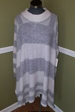 New Free People Grey's  Womens Size M/L Asymmetrical Sweater Dress - Shirt $168