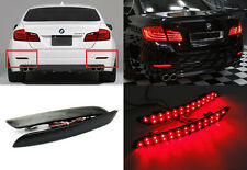 Black Smoked Lens LED for BMW 5-Series F10 F11 Bumper Reflector Tail Brake Light