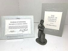 1974 Franklin Mint 'Pewter Figurines - The Butter Churner - People of Colonial'