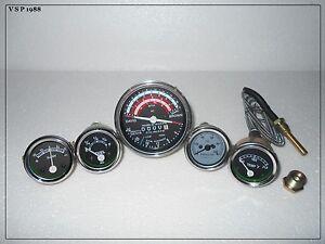 David-Brown-Tractor-Tachometer-Tempe-Oil-Pressure-Ammeter-Fuel-Gauge