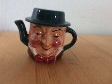 Artone Vintage Miniature  Dickens LiddedTeapot Mr Micawber Collectable