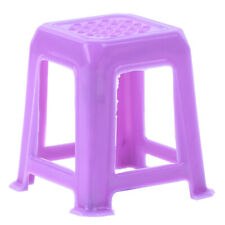 1/12 Dollhouse Miniature Plastic Stools Chairs Pretend Play Furniture Toy MF