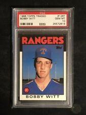 1986 Topps Traded - BOBBY WITT - PSA 10  **LOW POP 9**