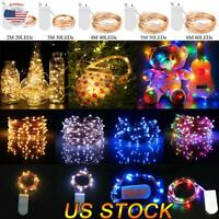 LED String Lights Fairy Micro Lights 20-60 LEDs Battery Powered Copper Wire  US