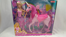 NEW Sparkle Barbie Princess Pink Unicorn Horse Play Set Mattel 8441